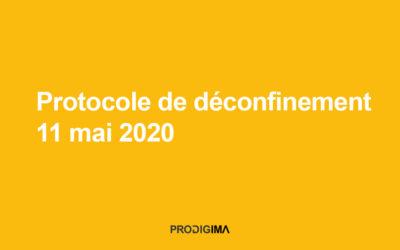 Protocole de déconfinement du 11 mai 2020 chez Prodigima