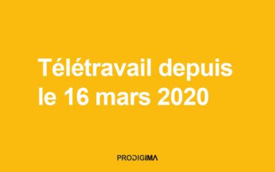 Télétravail depuis le 16 mars 2020
